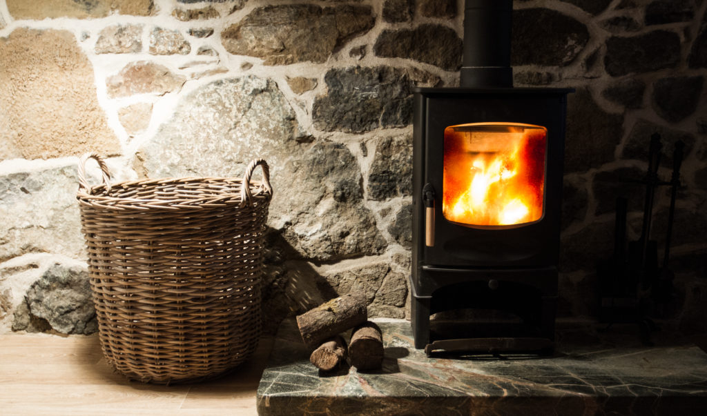 how to set up a wood burning stove chimney