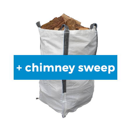 City Sack of Kiln Dried Ash with Chimney Sweep